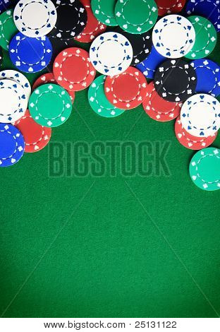 Casino gambling chips con espacio de copia