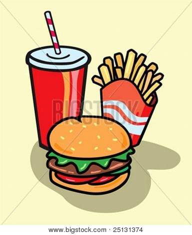 Fast food in Vector format