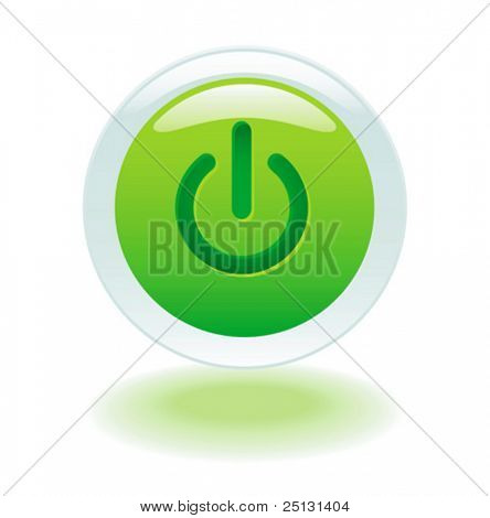 Glowing power on or off button