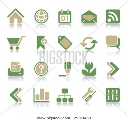 Internet & Web icon set | Recycle series