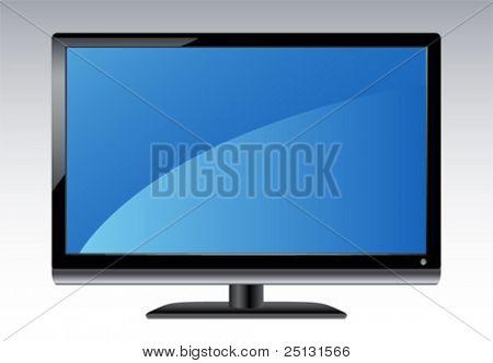 Plasma-LCD-HDTV-Display im Vektor-format