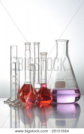 science and medical research test tubes
