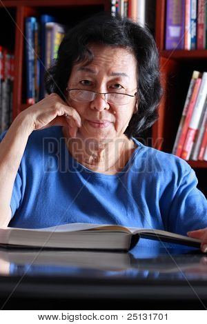 Senior Asian woman portrait