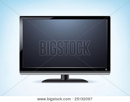 Widescreen HDTV Monitor in Vector format
