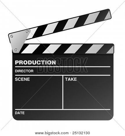 Vector film maker clapper board