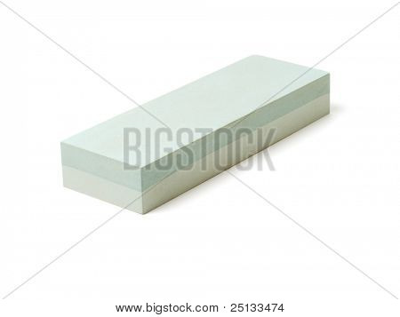 Whetstone isolated on white background.