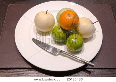 Fruit On Dish