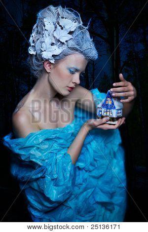 Frozen Fairy With Toyhouse