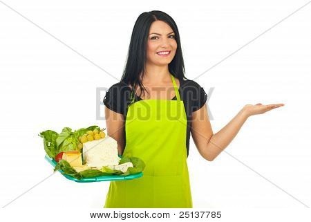 Beauty Cheese Maker Woman Presentation
