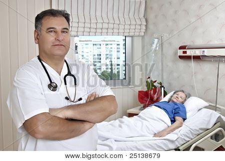 Male Doctor Visit Patient