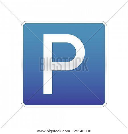 Señal de tráfico de estacionamiento