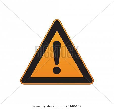 Vektor-Verkehrszeichen für Aufmerksamkeit