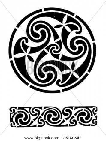 Abstract celtic tattoo designs