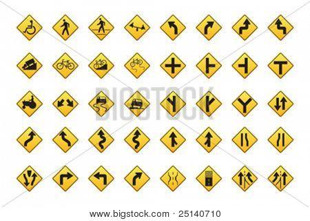 Direktionale Verkehrszeichen