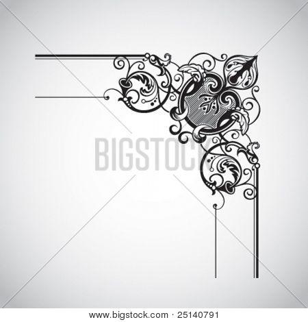 Elemento decorativo de diseño Vintage