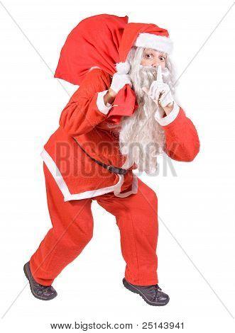 Santa Claus with Christmas bag