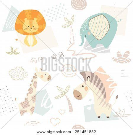 Lion Giraffe Zebra Elephant Baby