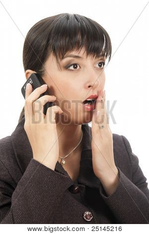 young woman listening rumor