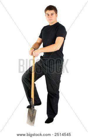 Men In Black With Shovel