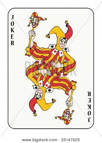 symmetric joker playing card (also available in raster format)