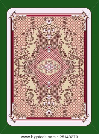 Playing cards back swirled design