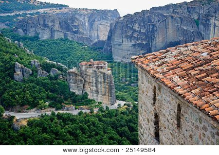 Meteora. Monastery at rocks