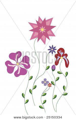 Illustration Of A Flower Pattern