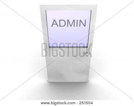 Tür zum Admin