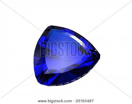 Jewelry gems shape of trillion. Sapphire