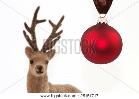 Christmas Ball With Reindeer
