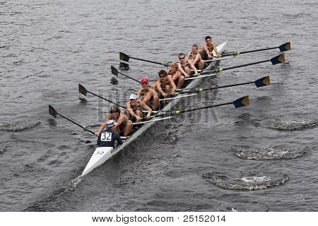 BOSTON - OCTOBER 23: La Salle College High School youth men's Eights races