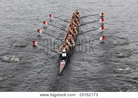 Boston - October 23: Canisuius High School  Youth Men's Eights Races In The Head Of Charles Regatta.