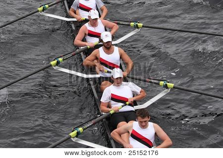 Boston - October 23: Capital City Rowing  Youth Men's Eights Races In The Head Of Charles Regatta. M