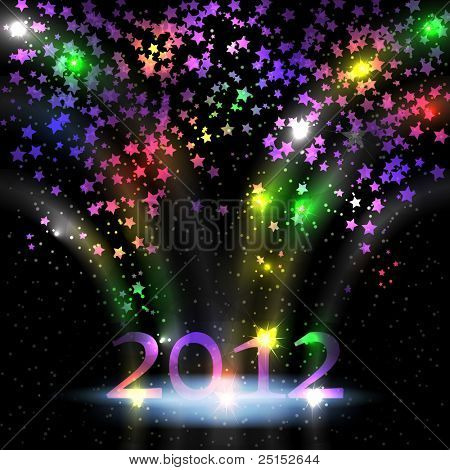 Colorful stars for New year
