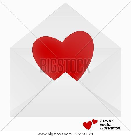Heart in envelope