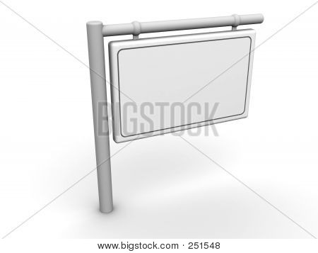 Info Sign Blank