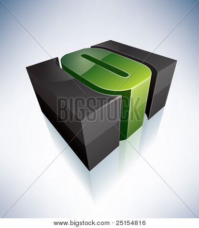 Three-dimensional O Letter