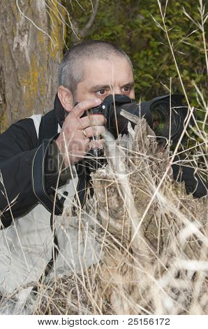 Photographer In A Wild Environment.