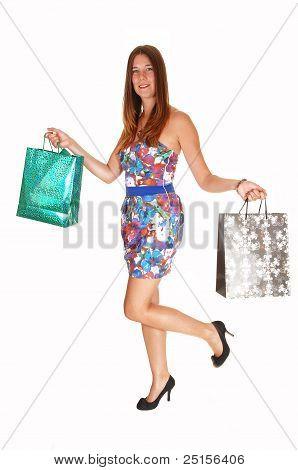 Teenager Girl Shopping.