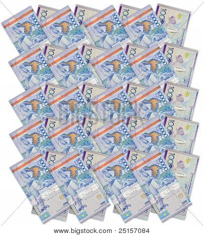 Ten thousand Kazakhstan tenge isolated on white