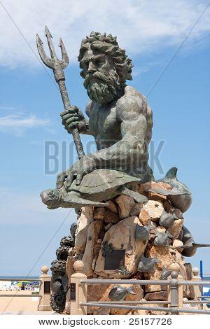 Giant King Neptune Statue In Va Beach