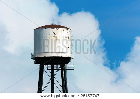 Old And Rusty Water Tower
