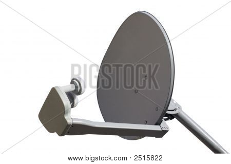 Tv Dish Isolated