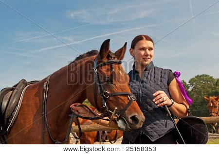 Horse And Equestrienne