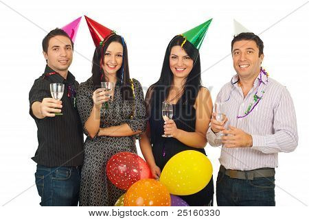 Group Of Friends At New Year's Eve Party