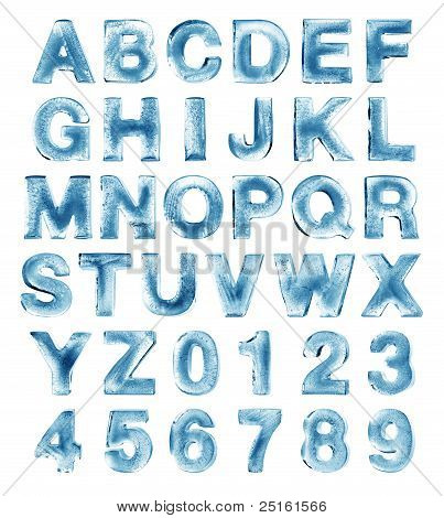alfabeto de hielo