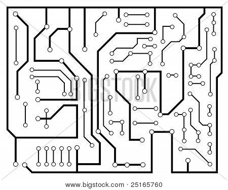 Black Electronic Scheme Vector