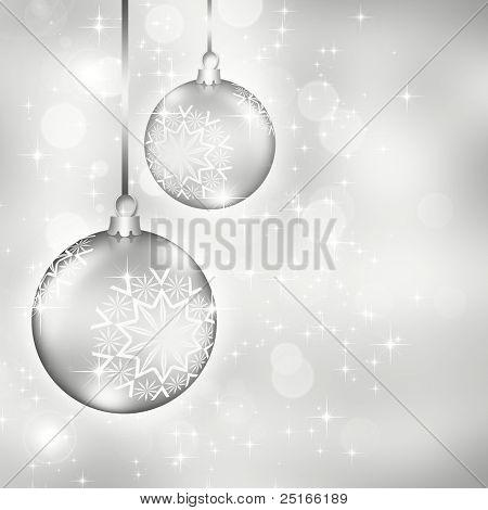 elegante Weihnachten Hintergrund mit Kugeln (Hintergrund hinter dem Panel ist abgeschlossen)