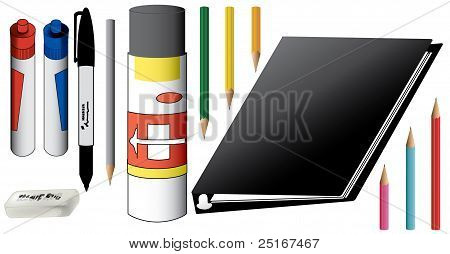 Art Supplies with Pencils