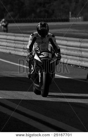 VALENCIA, SPAIN - NOVEMBER 9: Carmelo Morales in the official motogp test with new 1.000cc engines, Ricardo Tormo Circuit of Cheste, Spain on november 9, 2011